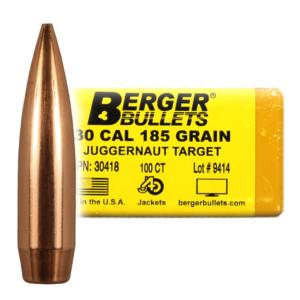 Berger Bullets - .30 cal, 185 GR, Match Juggernaut Target (Qty 100)